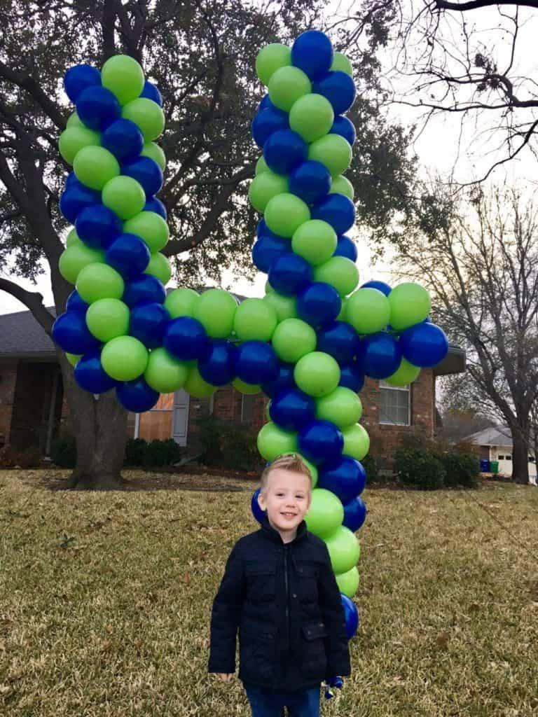 Balloon Number 4 child birthday