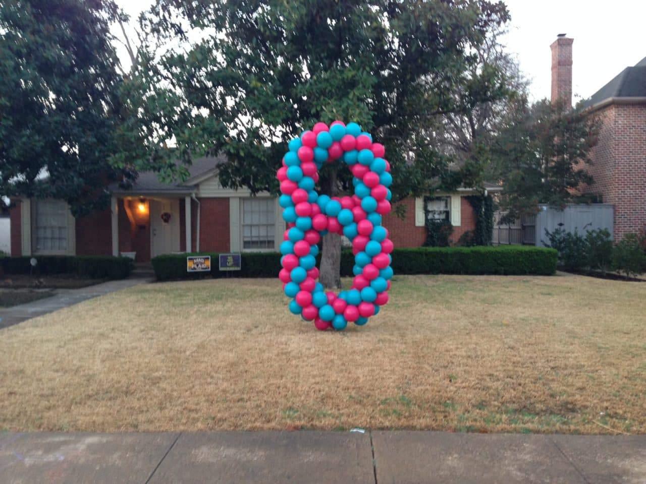 Balloon Number 8 wild berry light blue